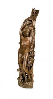 """Henri Lenaerts, Parte frontal de la escultura """"Destino Humano"""" — Cortesía del Gobierno de Navarra"""