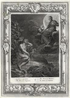 Selene. Picart s. XVIII — Cortesía de Palau Antiguitats