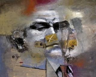 Luis Gordillo, Cabeza con números — Cortesía del Instituto de la Cultura y las Artes de Sevilla (ICAS)
