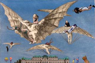 Lluís Barba, Modo de volar. Goya. Serie Disparates de Goya — Cortesía de Galería Contrast