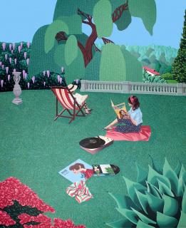 Helena Toraño. Hilo musical 2020. Acrílico sobre tela. 100 x 81 cm. — Cortesía de la Galería Gema Llamazares