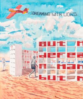 Alexandre Arrechea, Dreaming with Lions, 2020. Watercolor — Cortesía de Faena Art