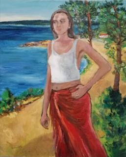 """Paisaje número 21"" obra pictórica de la pintora Silvia G.Armesto"