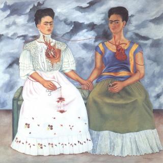Frida Kahlo 1939 Las dos Fridas, oleo tela, 173,5 x 173, Museo de Arte Moderno, México