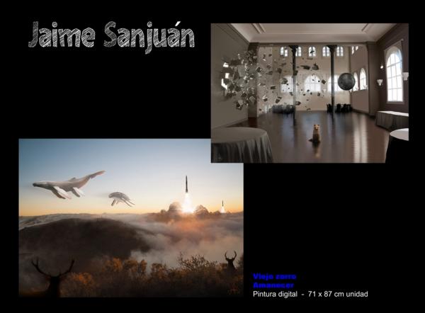 Jaime Sanjuán, Viejo zorro // Amanecer. Pintura digital 71x87 cm. unidad