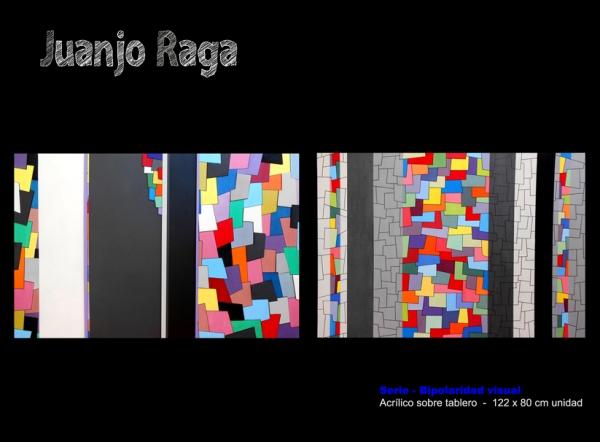 Juanjo Raga. Serie - Bipolaridad visual. Acrílico sobre tablero, 122x80 cm. unidad