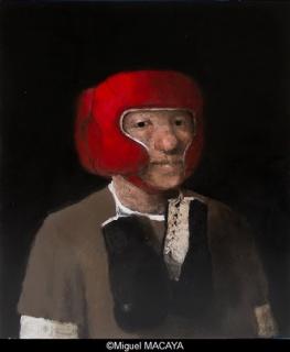 Miguel MACAYA, huile sur bois, 50 x 60 cm – Cortesía de la Galerie Arcturus