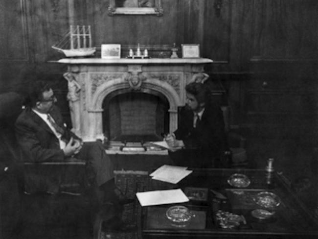 Hubert Fichte entrevista a Salvador Allende. Cortesía del MNBA