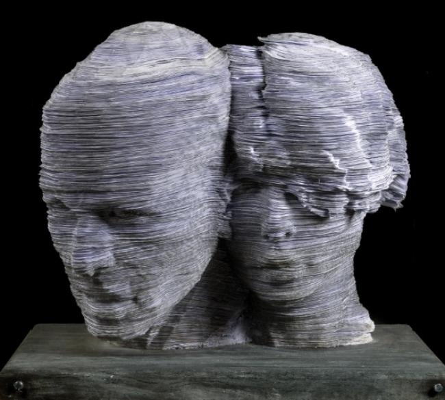 Abraham Nevado, Sinergia. hojas de papel ensalbladas — Cortesía del Gran Teatre del Liceu