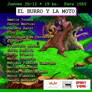 El burro y la moto. Imagen cortesía Fundación El Mirador