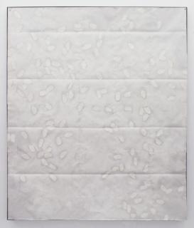 Bago, 2019. Oil on paper, iron structure and magnets, 187x158,5 cm. Courtesy 3+1 Arte Contemporanea