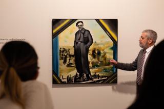 Manuel Chirivella muestra la obra de Equipo Realidad, 'Retrato a Pietro Nenni...' — Cortesía de la Fundación Chirivella Soriano