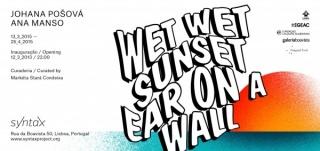 WET WET SUNSET EAR ON A WALL