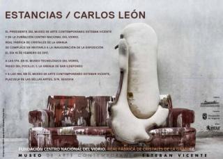 Carlos León, Estancias