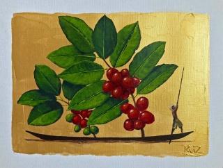 Obra de Pedro Ruiz en la exposición COFFEE - Cortesía del artista
