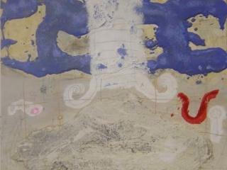 Joanpere Massana, Nuvols i montanya, cm. 100x100 — Cortesía del artista