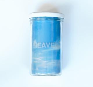 """Detall """"Heaven"""", 2018. Tècnica mixta. Políptic 20 x 20 cm (x12)"""