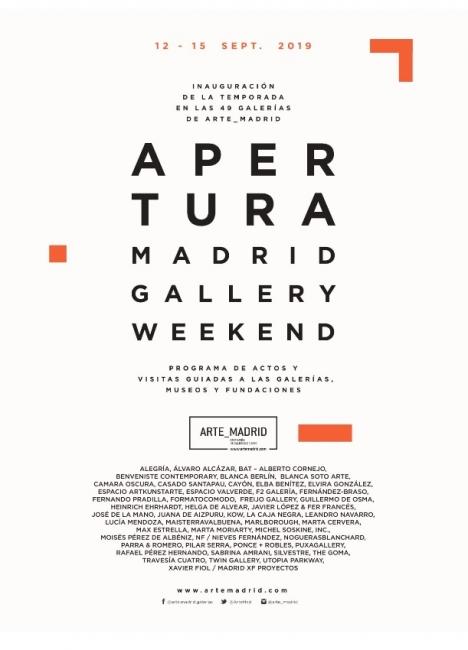 Apertura Madrid Gallery Weekend 2019