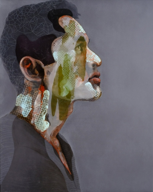 Rogelio Manzo, Mika V, 24x30 Oil and mixed on resin 2018 — Cortesía de janinebeangallery