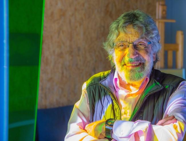 Retrato de Carlos Cruz-Diez — Cortesía de la galería Odalys