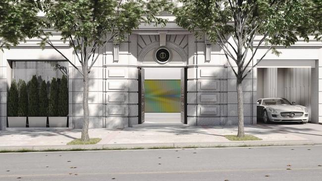 Carlos Cruz-Diez, Montalbán 11, entrada — Cortesía de la galería Odalys