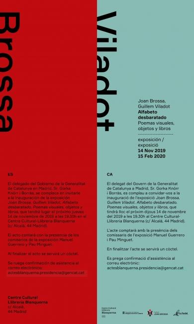 Joan Brossa, Guillem Viladot. Alfabeto desbaratado — Invitación