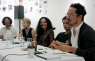From the 2018 YES Curators symposium with (from right) Pablo José Ramírez, Javier Ramirez, Josseline Pinto, YES Teams Claire Breukel and Patricio Majano. YES courtesy