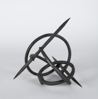Eduardo Chillida, Música de las esferas II, 1963. Hierro. Museo Universidad de Navarra — Cortesía del Museo de Bellas Artes de Bilbao