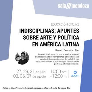 Cartel del seminario. Cortesía de Sala Mendoza
