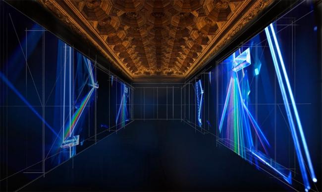 """Simulación de la exposición """"Marco y luz""""  que se incluye dentro del proyecto """"RE_NACIMIENTO""""  Refectorio del Monasterio de Uclés, Cuenca — Cortesía de Acerca Comunicación"""