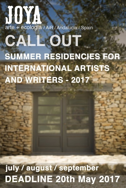Joya: Summer Residencies for International Artists and Writers - 2017