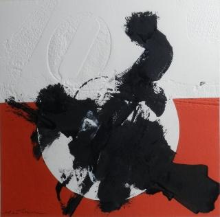 Sin título I Rafael R de Rivera 56 x 56 cm Obra original sobre papel en técnica mixta de collage-troquel