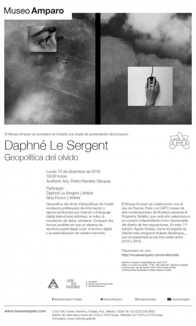 Charla apertura Daphné Le Sergent. Geopolítica del olvido. Imagen cortesía Museo Amparo