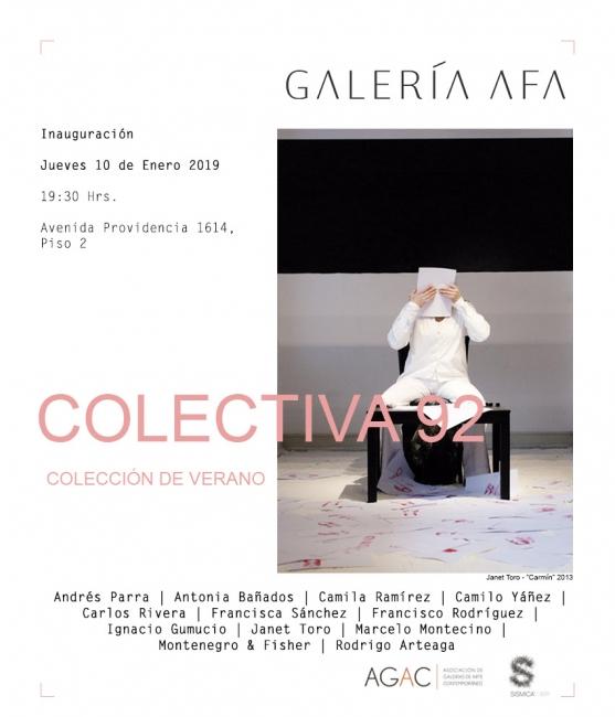 Colectiva 92, Colección de Verano. Imagen cortesía Galería AFA