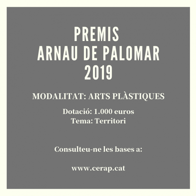 PREMIS ARNAU DE PALOMAR-ARTS PLÀSTIQUES