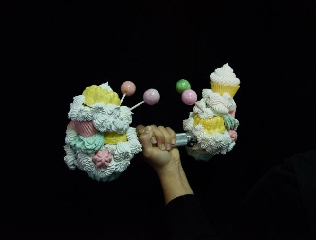 "© Ana Fonseca, ""I like my dumbbell sweet #1"", 2018"