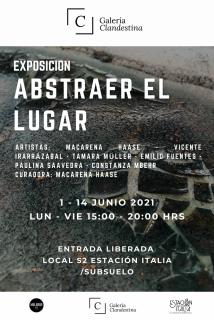 Afiche Abstraer el Lugar