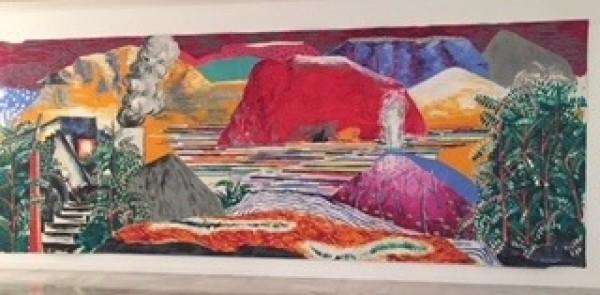 Abraham Lacalle, Un iconoclasta anda suelto, 2014.Óleo sobre lienzo. 300 x 800 cm.