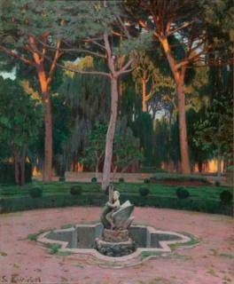 Santiago Rusiñol, Jardín de Monforte, 1919