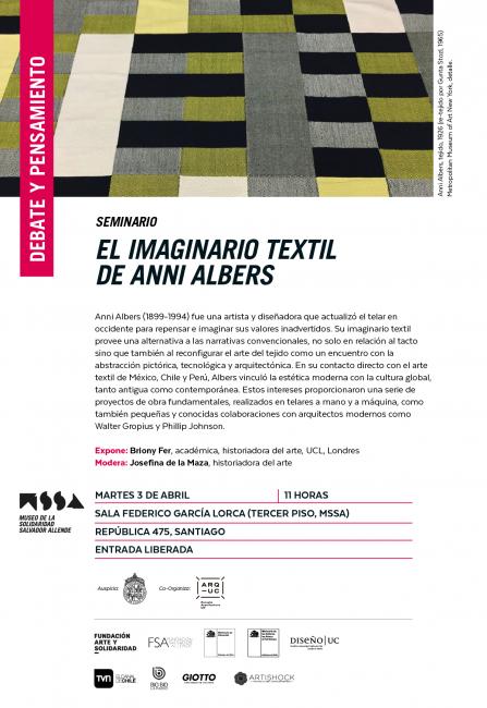 EL IMAGINARIO TEXTIL DE ANNI ALBERS. Imagen cortesía Museo de la Solidaridad Salvador Allende
