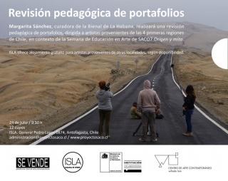 Revisión Pedagógica de portafolios. Imagen cortesía Proyecto SACO