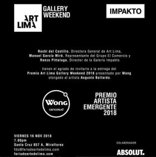 Premio Artista Emergente 2018