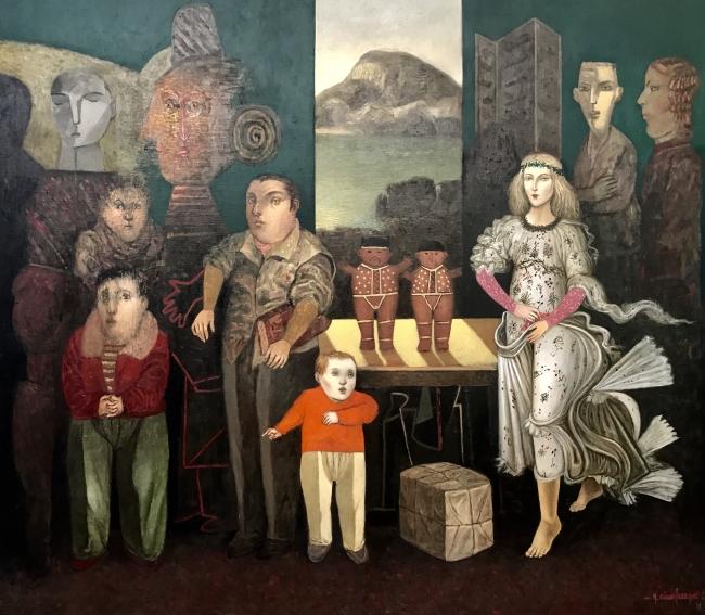Gonzalo Cienfuegos. La tercera estación. Óleo sobre tela. 140 x 160 cm. 2018.