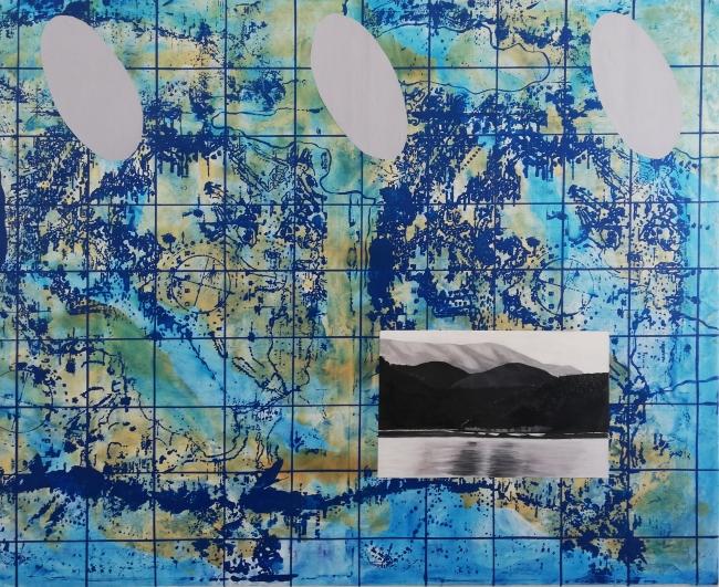 Ismael Frigerio. Terra Australis Ignota. Óleo sobre tela. 130 x 160 cm. 2018.