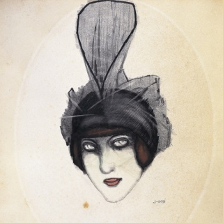 Xavier Gosé, Le chapeau en tulle, c. 1909. Museu d'Art Jaume Morera, Lérida — Cortesía del Museo Carmen Thyssen-Bornemisza de Málaga