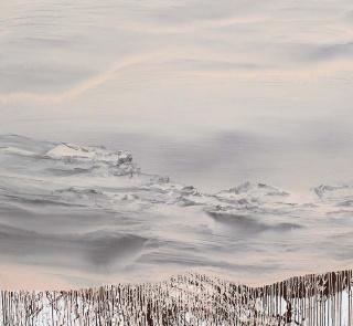 Luis Coquenão,2017. Vinilico acuoso sobre lienzo 190x190 cm. — Cortesía de Art Barcelona