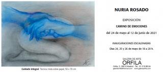 Flyer exposición Nuria Rosado