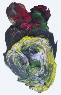 Consuelo Lewin, Detalle de la instalación Mímesis posible, 2015. Mancha de óleo, formato irregular, 95 x 65 cm. aprox., Instalación de dimensiones variables