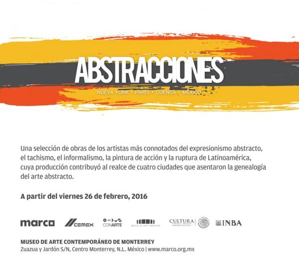 Abstracciones. Nueva York, París, Cuenca, México