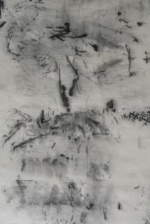 © Liliana Béatrix Spadavecchia. Detalle de la obra Praga nevada, papel y tinta china